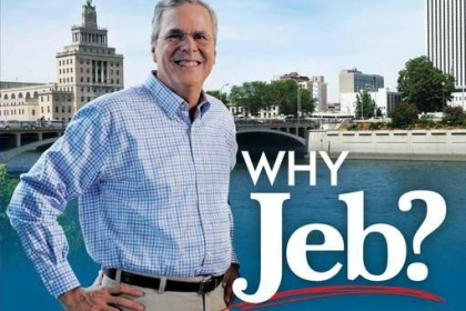 jeb bush black hands pic