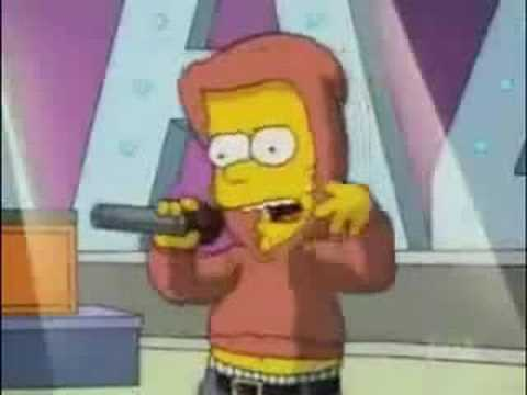 bart simpson rapping