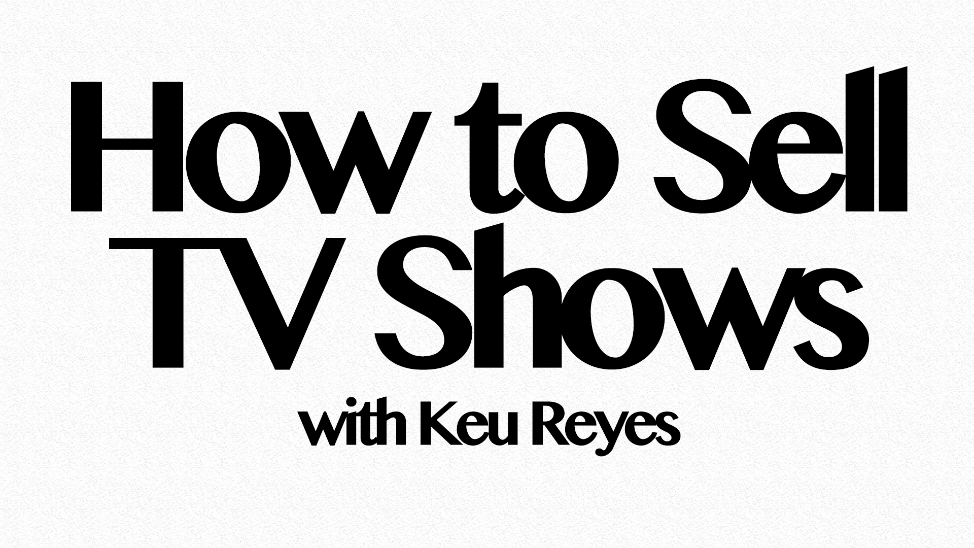 how to sell tv shows