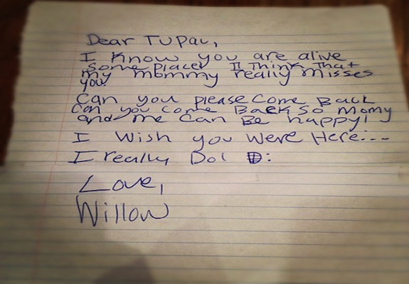 The Mysterious Willow Smith Letter to Tupac Shakur